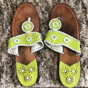 Lime green Jack Rogers